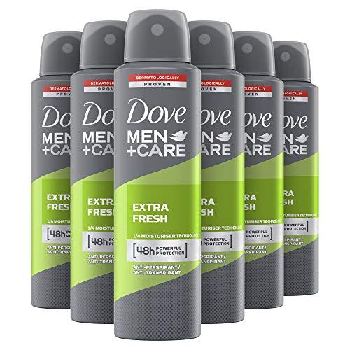 Dove Men Care Desodorante Aerosol extra fresco, paquete de 6 (6 x 150 ml)