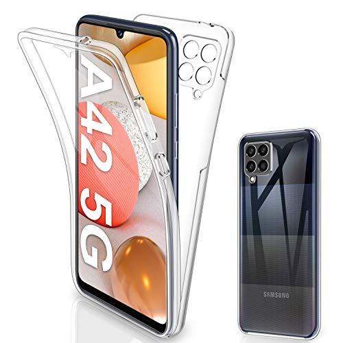 SOGUDE für Samsung Galaxy A42 5G Hülle, für Samsung Galaxy A42 5G Schutzhülle 360 Grad Full Body Front Und Rückenschutz Handyhülle Transparent Durchsichtige Bumper für Samsung Galaxy A42 5G