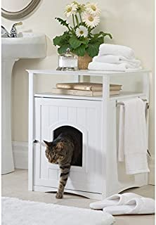 Merry Products Hidden Cat Litter Box Enclosure, Give Your Cat Privacy And Your House Class With This Litter Box Enclosure.
