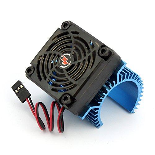 HobbyWing EZRUN Motor Combo C1 Motor Kühlkörper + 5 V Fan 2 S für 3660 3665 3674 1/8 RC Auto Brushless Motor