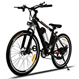 Profun Vélo de Montagne électrique 27.5/26 Pouces 350W/250W avec Shimano 24/21 Vitesse E-VTT avec Batterie au Lithium Amovible...