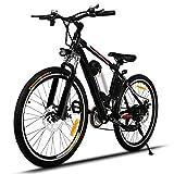 Profun Bici Elettriche Mountain Bike 26 Pollici, Bicicletta da Montagna 36 V/250 W, Sistema di...