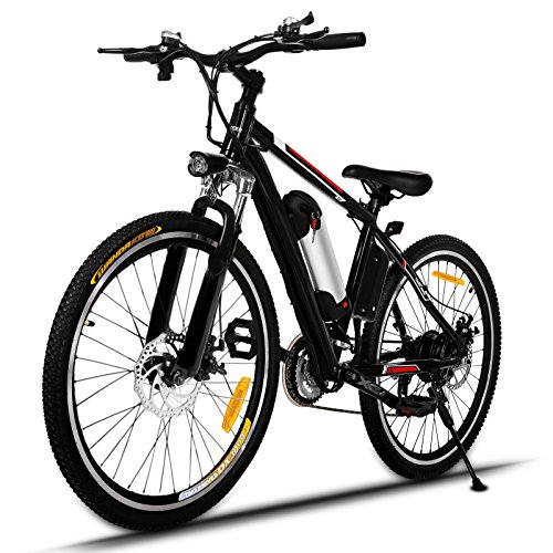 Profun Vélo de Montagne électrique 27.5/26 Pouces 350W/250W avec Shimano 24/21 Vitesse E-VTT avec...