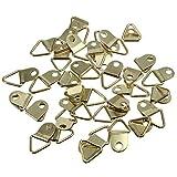 Marcos de la foto Imagen perchas de latón dorado marco de la foto de montaje en pared gancho de la suspensión del anillo de hierro 20 piezas Set,Oro