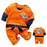 Nette Neugeborene Jungen Jungen Mädchen Kleidung Kleinkind Kleinkind Langarm Strampler Jumpsuit Outfits (Orange,9-12 Months)