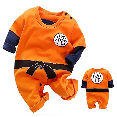 Nette Neugeborene Jungen Jungen Mädchen Kleidung Kleinkind Kleinkind Langarm Strampler Jumpsuit Outfits (Orange,3-6 Months)