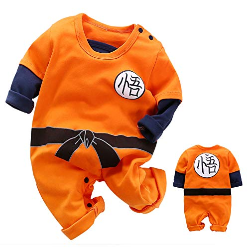 Lindo Bebé Recién Nacido, Niños, Niñas, Ropa, Niño, Niño, Manga Larga, Mameluco, Mono, Trajes (Orange,3-6 Months)