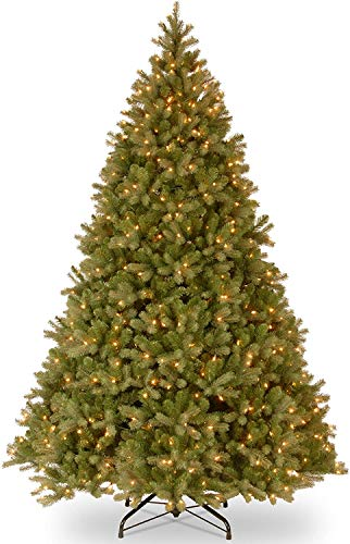 National Tree Company 'Feel Real' Pre-lit Artificial Christmas Tree | Includes Pre-strung White Lights and Stand | Downswept Douglas Fir - 10 ft
