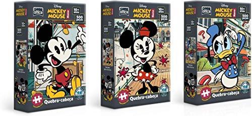 Kit Quebra Cabeça do Mickey - 500 peças nano