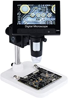 USDWRM USB Digital Electronic Microscope Portable 8 LED Magnifier Electronic 500-1000X Electron Microscope HD LCD Digital ...