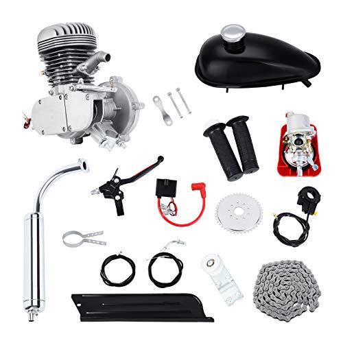 Samger Samger 2 tiempos Kit Motor de Bicicleta Gas Motor Kit de Conversión de Bicicleta (Plata, 100CC)