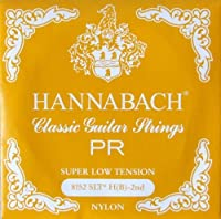 HANNABACH E8152 SLT-Yellow H 2弦 クラシックギターバラ弦 2弦×6本セット
