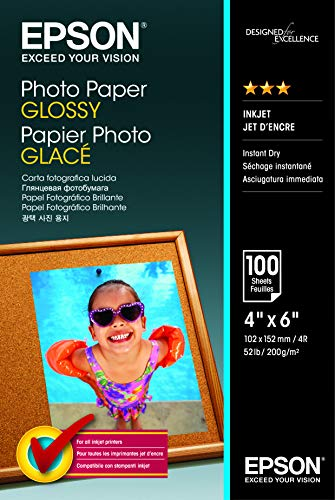 Epson Photo papier 10 x 15 cm 100 feuilles 200 g/m² Brillant
