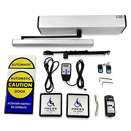 Olide DSW120 Swing Door Opener/Closer Residential/Commercial,Automatic Residential/Commercial Door Opener/Operator+2PCS Wireless Handicap Push Buttons