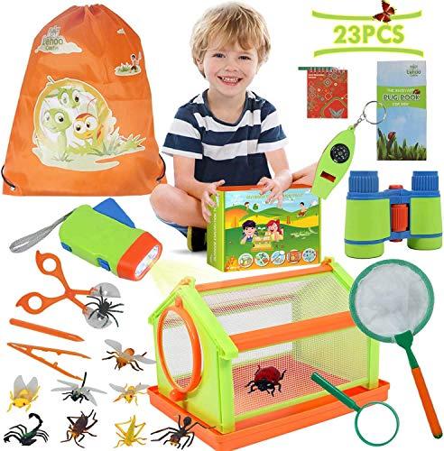 Lehoo Castle Kit Exploracion Niños Kit de Explorador para Niños Juego de Kit de Exploración y Aventura al Aire Regalo de Cumpleaños Navidad para Niños