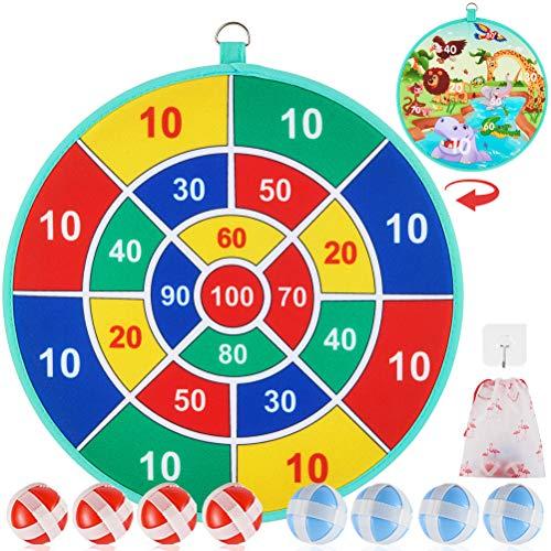 ubrand Dart Brettspiel für Kinder mit 8 Sticky Balls, Safe Classic Dartboard Set, Weihnachts-Dartspiel Geschenk für Jungen Mädchen -33cm (Green)