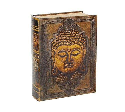zeitzone Hohles Buch mit Geheimfach Buchversteck Buddha Antik-Stil 25cm