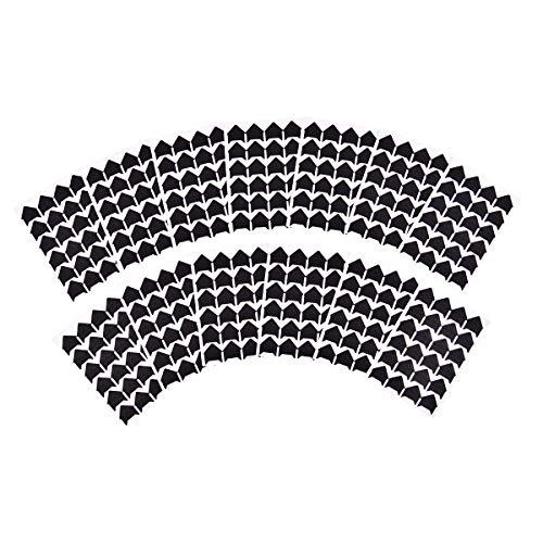 iGadgitz Home U7010 - Angolini Autoadesivi per Foto Angoli Stickers Photo Corners Colorati - Nero, Bianco, Oro, Argento - Cornici Sticker Album Foto - Nero - 312 Pezzi