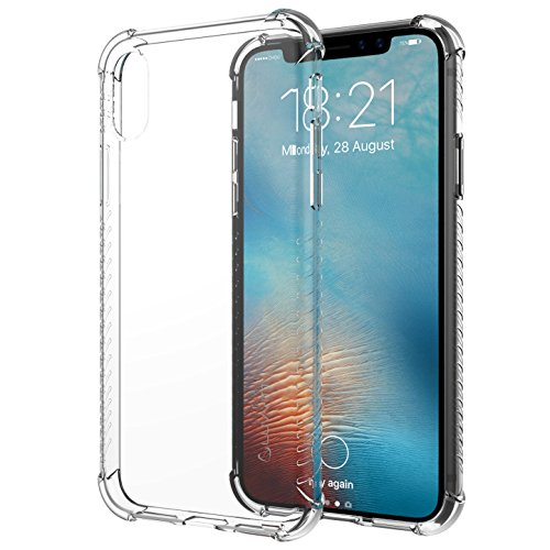 iPhone Xs Case, Luvvitt Clear Grip iPhone X/XS Case with Air Pocket Reinforced Corners for iPhone X and XS with 5.8 inch Screen 2017-2018 - Crystal Clear