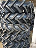 (2-TIRES) 11.2x24,11.2-24 - 10 PLY R1 Tractor Tires With/Tubes Road Crew Tires 11224