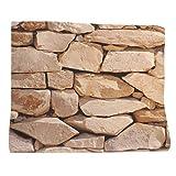 3D Steinwand Steinoptik Fototapete Wandbild Steine Wanddeko für Wohnzimmer - #C