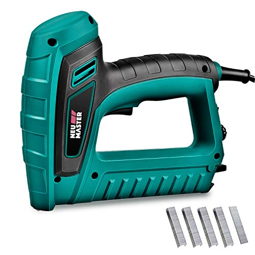 Electric Brad Nailer, NEU MASTER Staple Gun N6033 with Contact Safety and Power Adjustable Knob for...