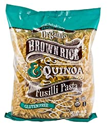 Quinoa and brown rice pasta