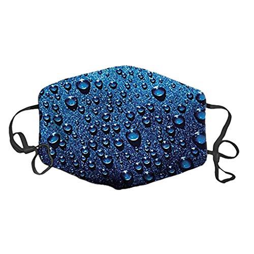 Blingko Männer Frauen halbe Bandanas Weiche Waschbare Wiederverwendbare Abdeckung, atmungsaktive Gesichtsabdeckung Staubschutz Mundschutz für den Außenbereich (S Mehrfarbig)