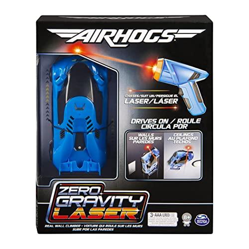 Air Hogs Laser zerowy o zerowej grawitacji, prowadzony laserowo prawdziwy samochód wyścigowy, niebieski