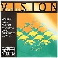 THOMASTIK Vision Titanium solo ヴィジョンチタニウムソロ ヴァイオリン弦 D線 シンセティックコア 4/4 シルヴァーVIT03