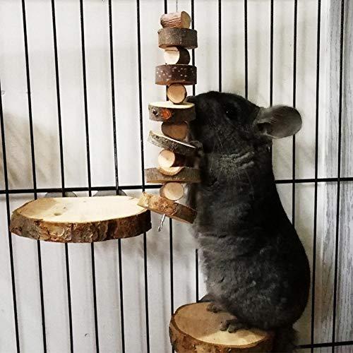 Hamster Kauspielzeug Klein Pet Kauspielzeug Apfelholz Kauen Stöcke Natürliche Zahnknirschen Spielzeuge Bio-Apfelstäbchen Kaustäbchenspielzeug Zahnpflege für Kaninchen, Chinchilla, Meerschweinchen