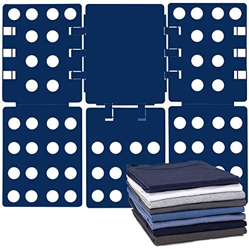 Blue Sutekus Clothes Folder Shirt Folding Board T-Shirt Folder Easy and Fast Flipfold for Adults /& Kids 2 Pack