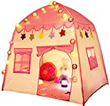 """Kids Princess Play Tent Children Teepee Castle Tent Playhouses Indoor Outdoor Toddler Toys Girls Boys Christmas Birthday Gifts,51""""x39""""x51""""(DxWxH)"""