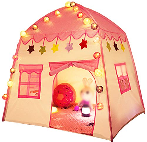 UniqueVC Kids Princess Play Tent Indoor Outdoor Toddler Toys Children Playhouses Castle Teepee Tent Girls Boys Christmas Birthday Gifts