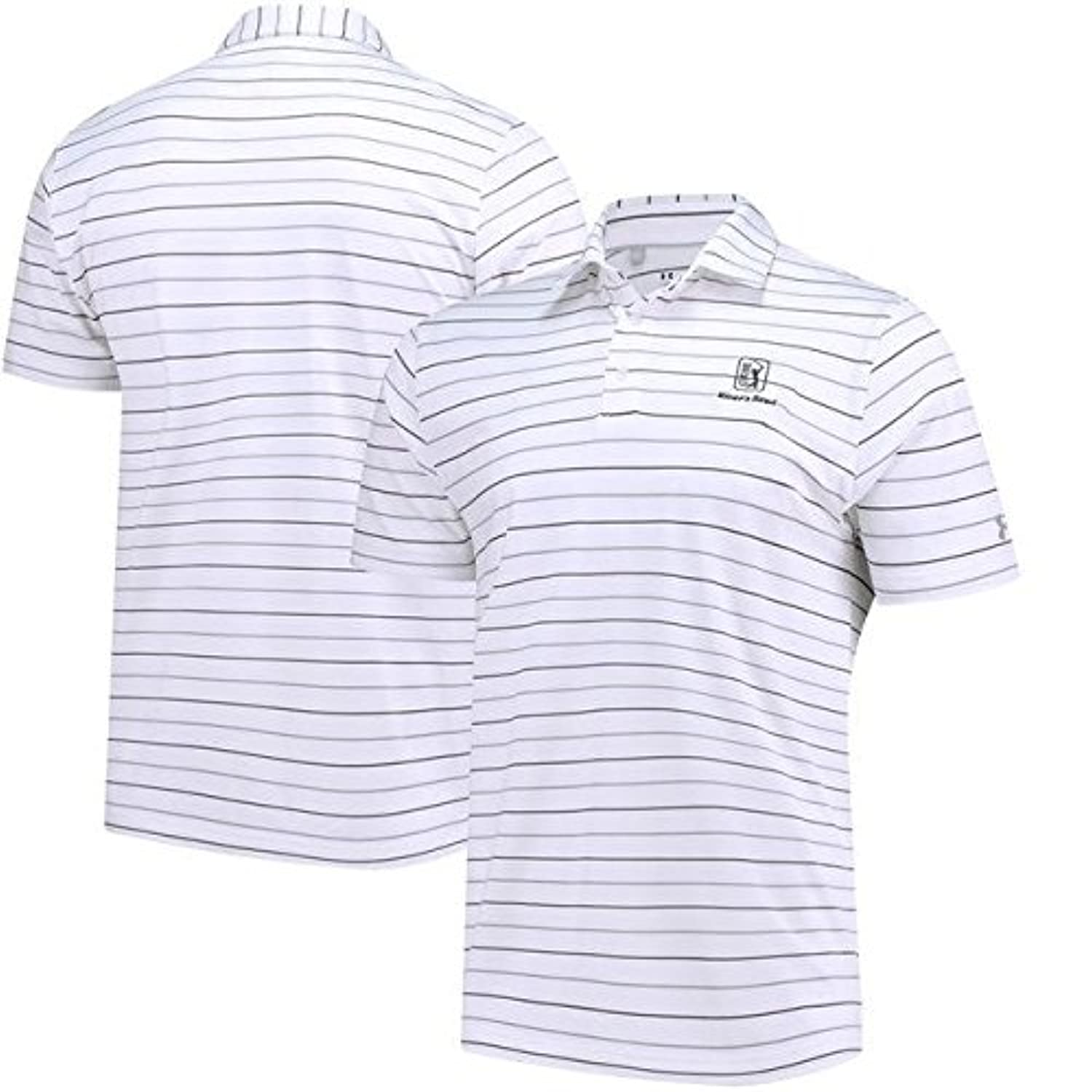 Under Armour Under Armour TPC River's Bend White Performance Stripe 2.0 Polo スポーツ用品 【並行輸入品】