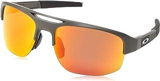 Oakley Men's Mercenary Polarized Rectangular Sunglasses, Matte Olive, 70 mm