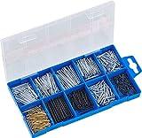 Connex Nagel-Sortiment 485-teilig - Nägel & Kammzwecken im Set - Vorsortiert in praktischer Kunststoffbox - Geeignet für Haus, Hobby & Werkstatt / Sortimentskasten / Sortimentsbox / DP8500054