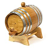 Oak Ageing Barrel 1 Litre - Handmade American White Oak - Age Spirits and Cocktails