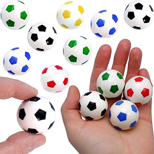 German-Trendseller® - 12 x Springbälle Fußball - Mix für Kinder ★ NEU ★ ┃ Kindergeburtstags Mix ┃ Mitgebsel ┃ SUPER Sprungkraft ✔ ┃ 12 Stück
