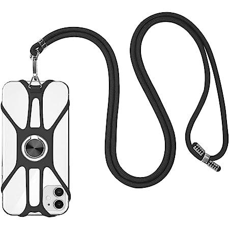 takyu Handykette, Lanyard Schlüsselband Halsband Trageband Kordel zum Umhängen mit Karabiner /Finger Ring Ständer