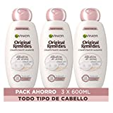 Garnier Remedies Delicatesse de Avena champú cuero cabelludo sensible - Pack de 3 x 600 ml