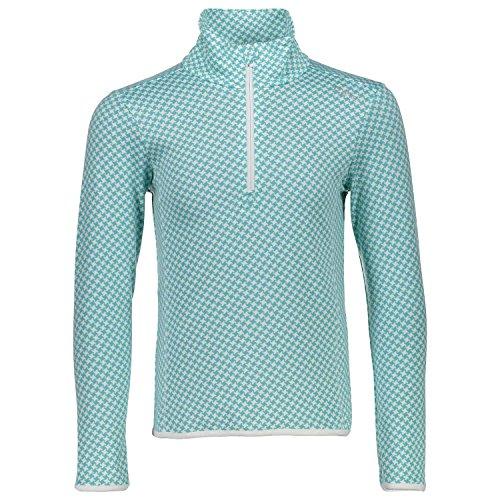 CMP Sweat Pull Haut Loisirs T-Shirt Vert Motif Softech Stretch 3l10075, Vert/Turquoise