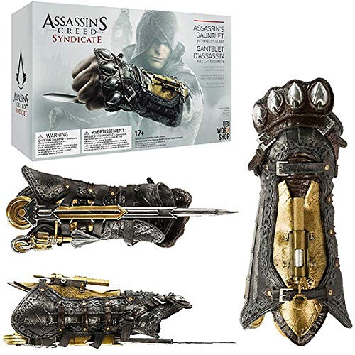 Assassins Creed Syndicate 6 COSPLAY Handschuhe Modell Armband Mit Sleeve Pfeile Sleeve Klinge Waffe Requisiten Dekorationen Souvenir Charakter Liebhaber-Geschenk-1: 1 60CM