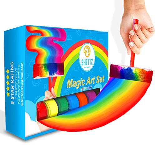 Watercolor Rainbow Magic Art Set for Girls and Boys-Kids Art Kit with 6 Sponge Brushes