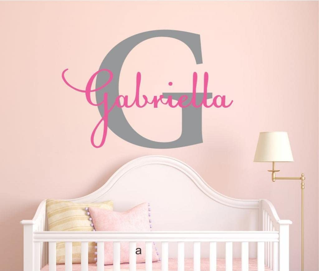 Girls Max 66% OFF Custom Name and Initial Wall Decal H 40