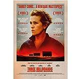 TRES vallas publicitarias fuera de Ebbing Missouri Movie Art Print Posters Canvas Art Wall Art Pictures Decoración para el hogar(60X80Cm) -24x32 Pulgadas Sin marco