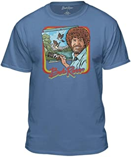 Teelocity Bob Ross Retro Painting Tshirt - 100% Authentic - Graphic T-Shirt for Men-Women-Kids