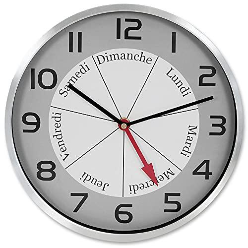 FISHTEC Orologio Buon Giorno - Indicazione del Giorno della Settimana