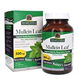 Nature's Answer Mullein Leaf Verbascum Thapsus 500mg   Herb Ideal for Immune and Inflammation   Full Spectrum Herb   Supports Healthy Respiratory Function   Gluten-Free, Vegetarian/Vegan 90 Capsules