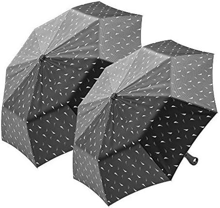 2 Pack Nautica Umbrella for Travel Auto Open Compact Lightweight Folding Best Windproof Umbrellas product image